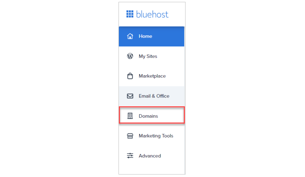 Find Domains in Your Bluehost Admin Panel