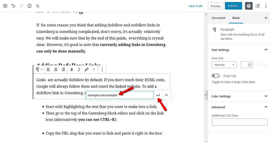 Copy the URL Slug and Click Apply