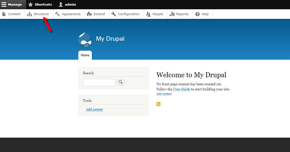 Find Structure in Drupal