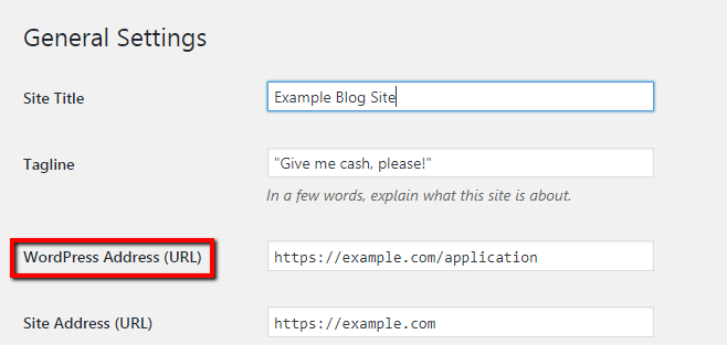 Updating the URL in WordPress