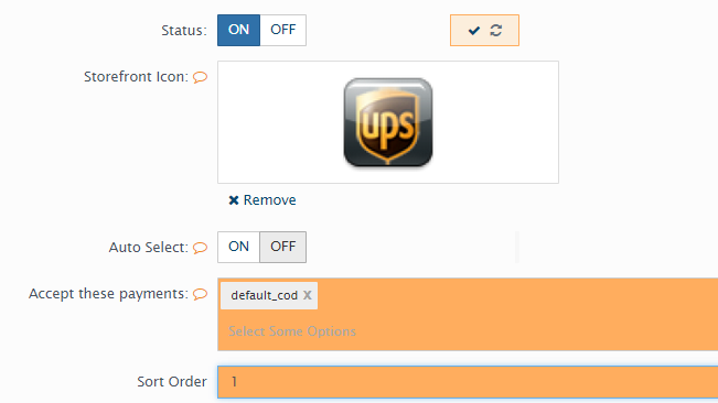 configuring a shipping method