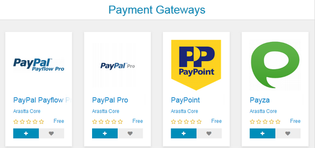 Different Types of Payment Gateways in Arastta