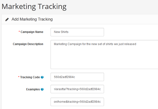 Configuring Campaign Tracking in Arastta