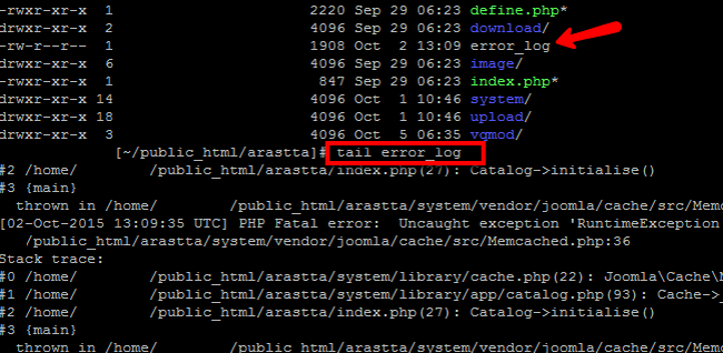 Viewing PHP Error Log using SSH access