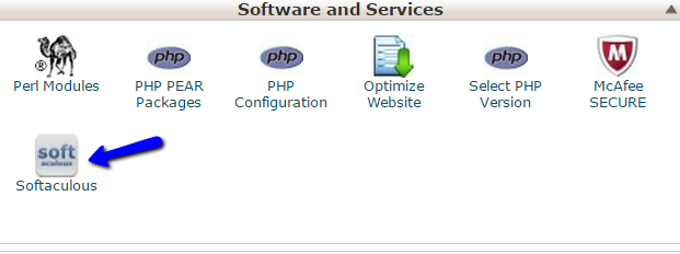 cPanel access Softaculous