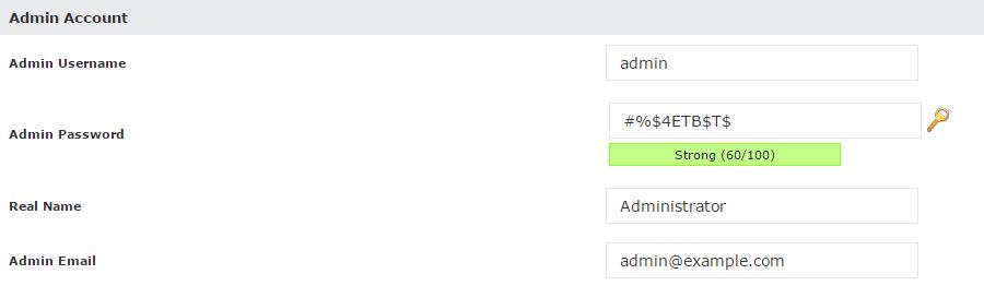 Bolt Admin Account Softaculous