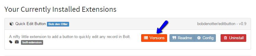Review Bolt Extension Versions