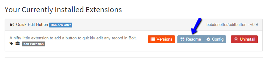 Review Bolt Extensions Readme File