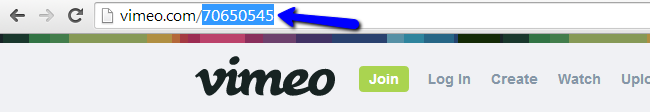 Locate Vimeo video ID
