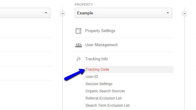 Locate Google Analytics tracking code