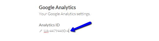Configure Google Analytics in Cinematico