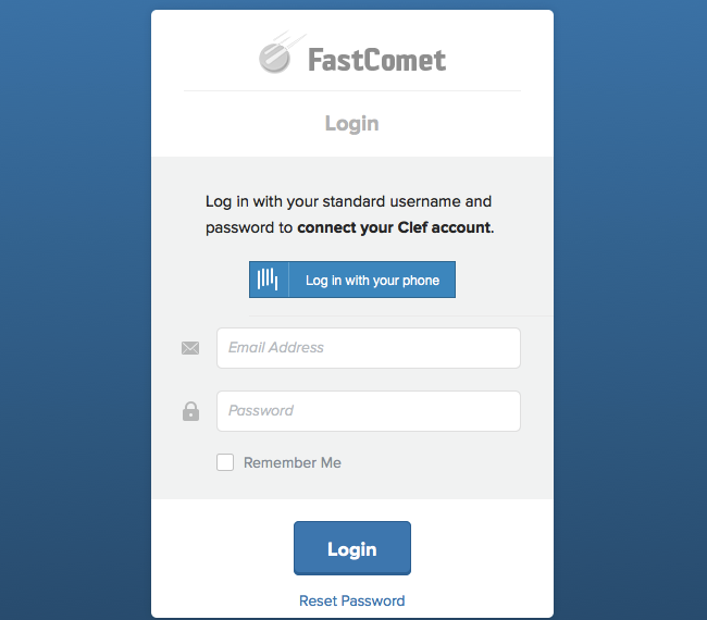 Link login account with clef