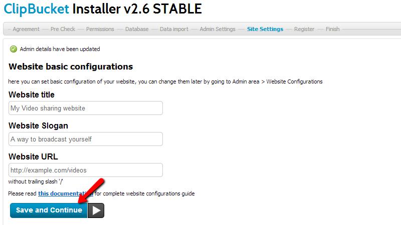 website-basic-configuration