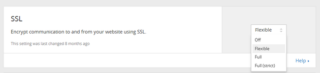 Activating Flexible SSL in CLoudFlare