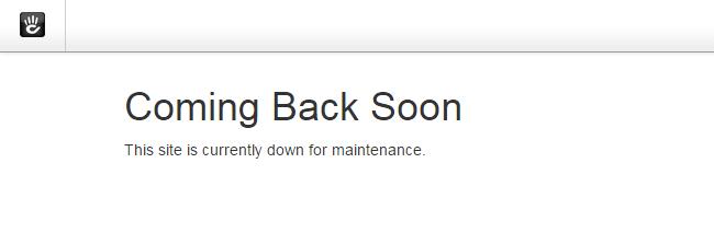 Concrete5 default maintenance message