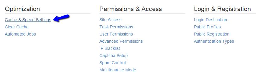 Access cache management feature in Concrete5
