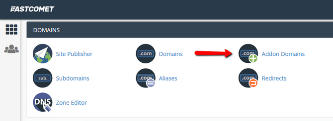 Access the Addon Domains Section in cPanel