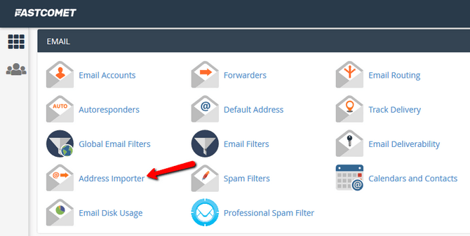 Access the Address Importer Feature in cPanel