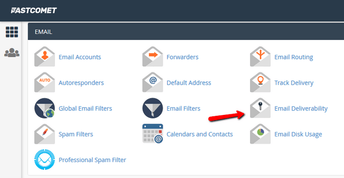Access the Email Deliverability Interface in cPanel v82