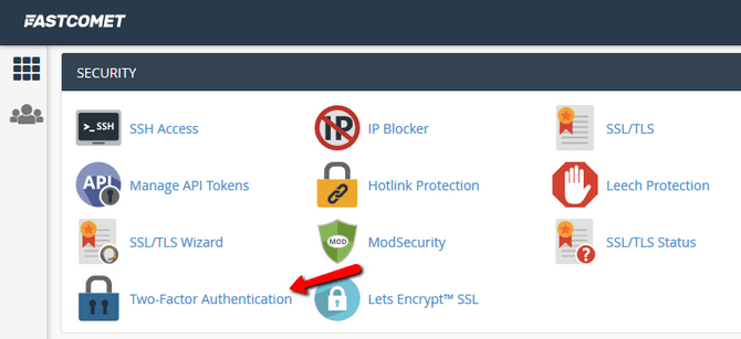 Access the Two-factor Authentication Feature in cPanel