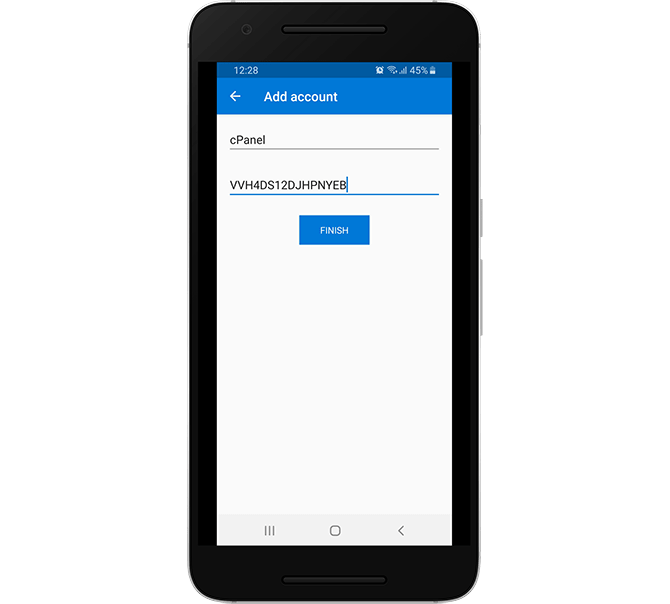 Add a 2FA Key Code Manually in Microsoft Authenticator