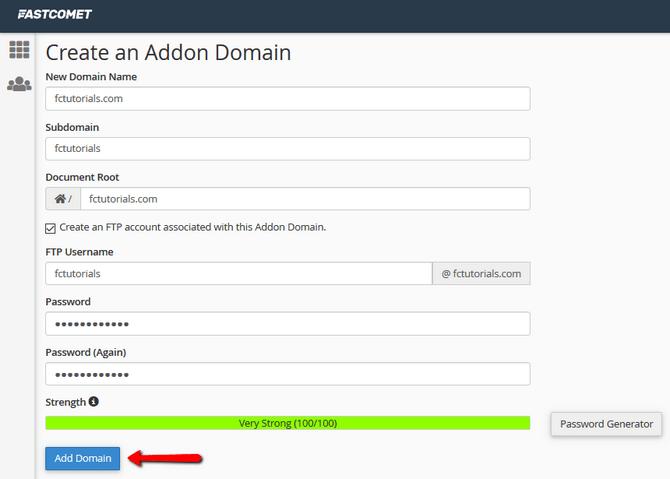 Addon Domain Configuration in cPanel