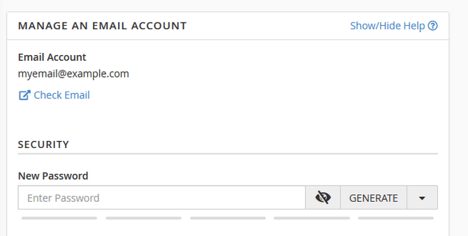 Change the Password of your Email Account via cPanel