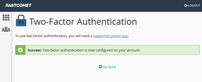 Configure Two-factor Authentication for cPanel Successfully