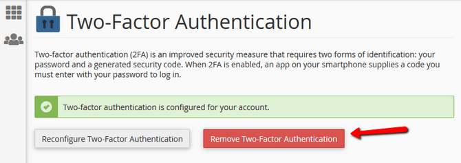 cPanel Two-factor Authentication from cPanel