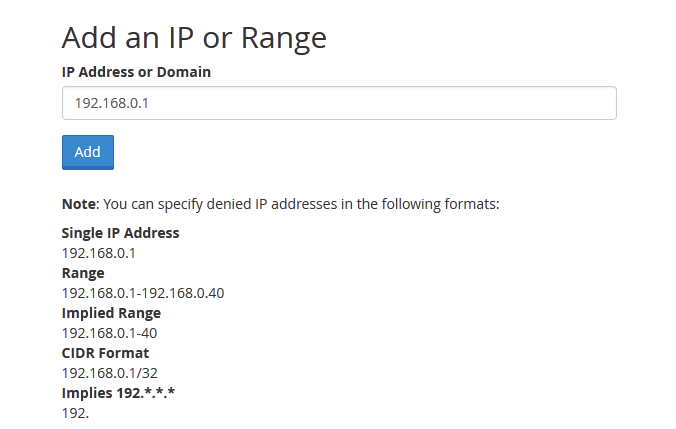 blocking an ip range