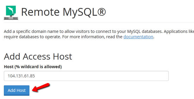 allow mysql hosts