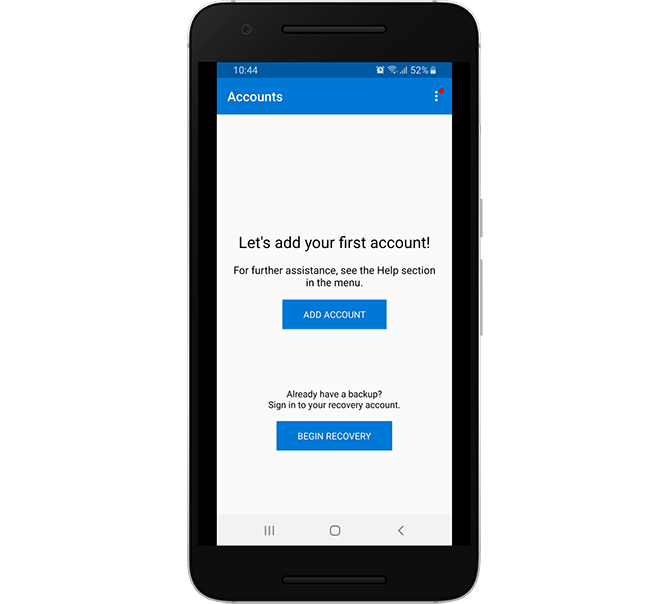 Create a Two-factor Authentication Account in Microsoft Authenticator
