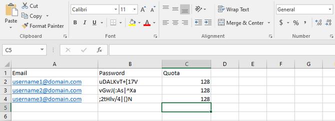 Create an Import List in xls Format