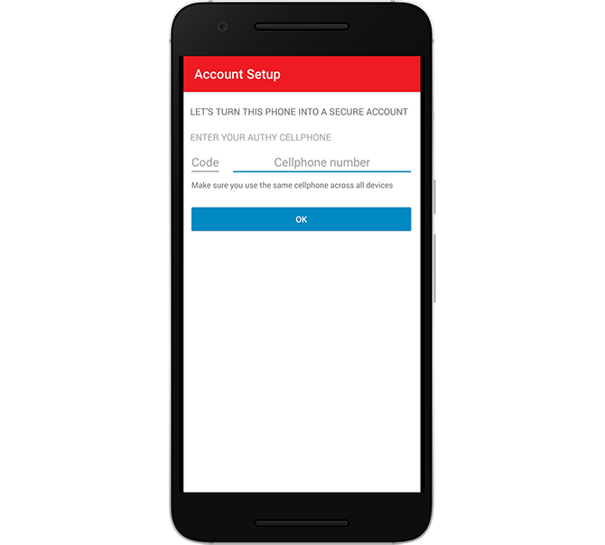 Device Account Creation in Authy
