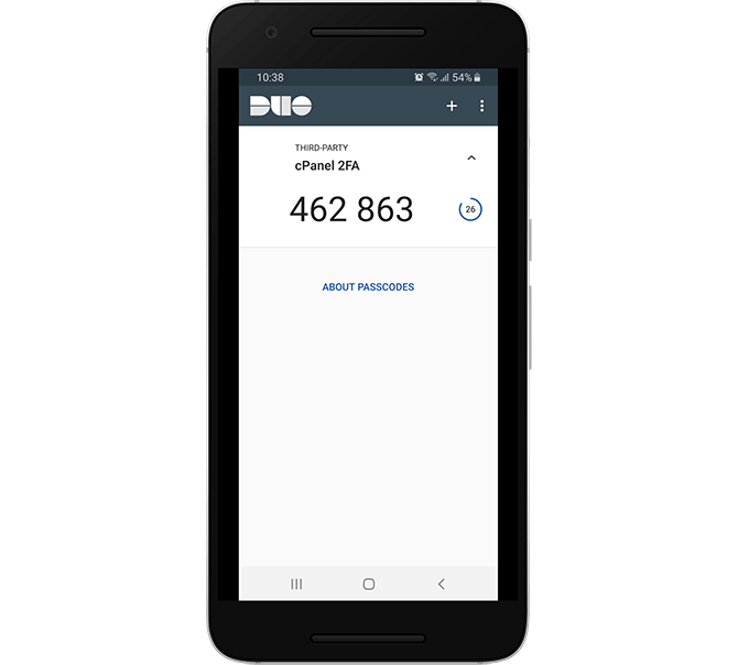 Generate a Two-factor Authentication Code in Duo Mobile