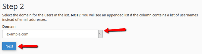 Select the Domain Associated with the Import