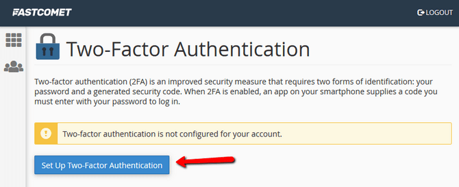 Set Up Two-factor Authentication for cPanel