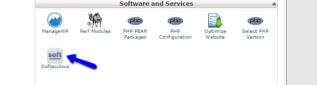 Access Softaculous in cPanel