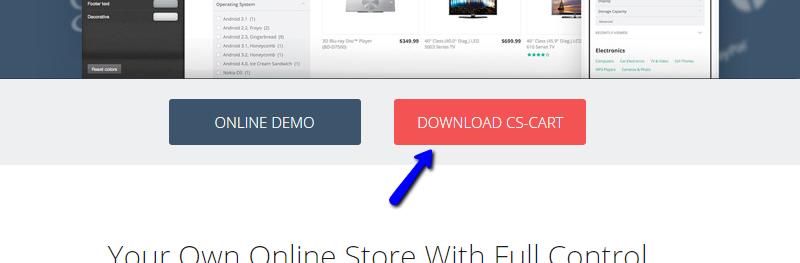 CS-Cart official website