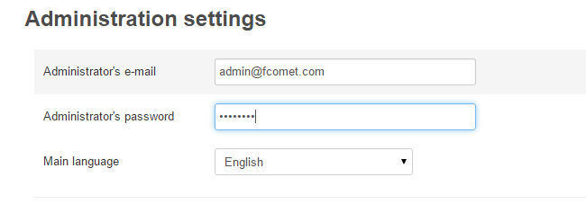 Admin Account setup during CS-Cart installation