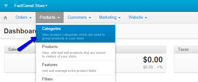Product categories in CS-Cart