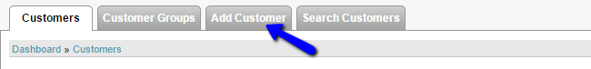 Add new customer in CubeCart