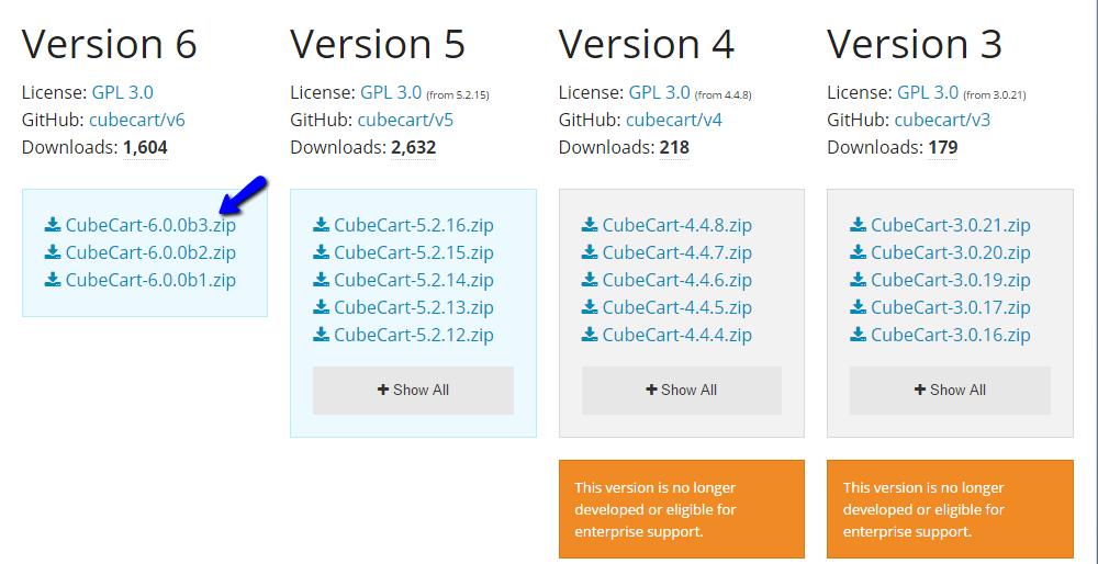 Download CubeCart