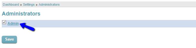 Choose admin user in CubeCart