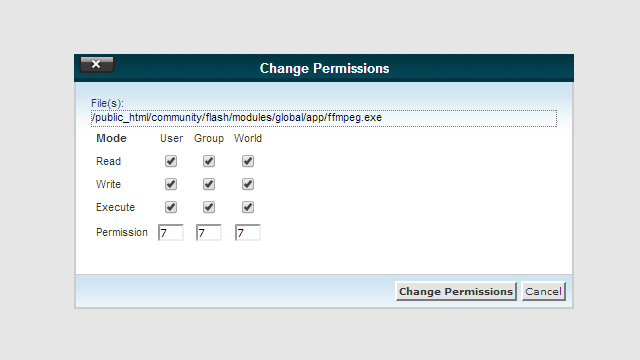 FFMPEG-Permissions