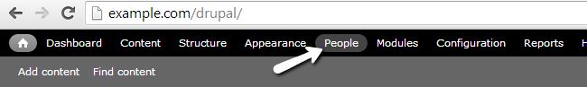 Access People menu in Drupal