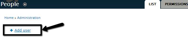 Add a user in Drupal