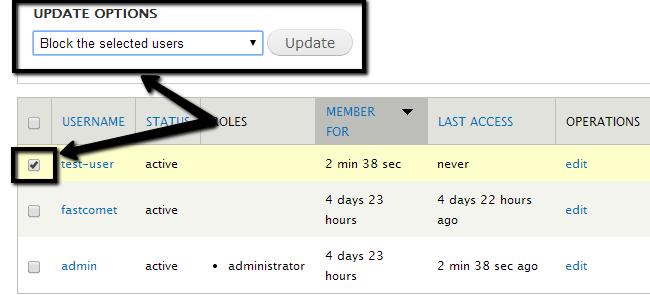 Block a user in Drupal
