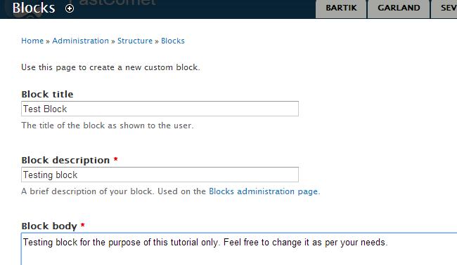 Edit block details in Drupal