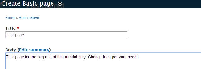 Edit basic page details in Drupal